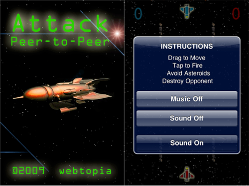 Attack P2P - Bluetooth Spaceship Battle Now Available For Free