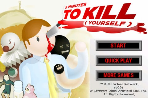5 minutes to kill yourself menu