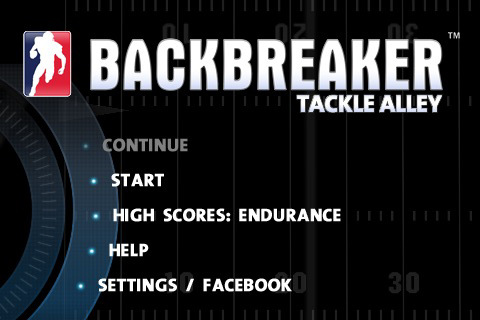 backbreaker football menu