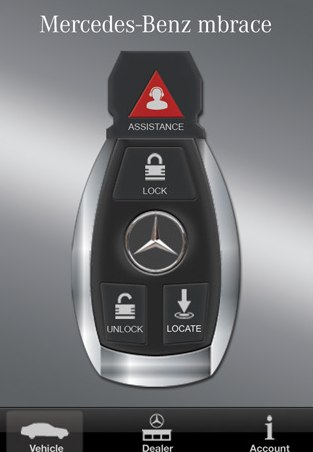 Mercedes benz rolls out remote iphone control on its for Mercedes benz app for iphone