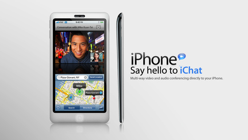 500x iphone4 concept iPhone 4G : Say hello to iChat