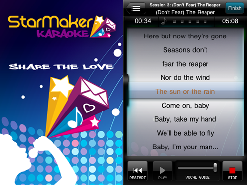 Record And Send Personalized Versions Of Your Favorite Songs With StarMaker Karaoke