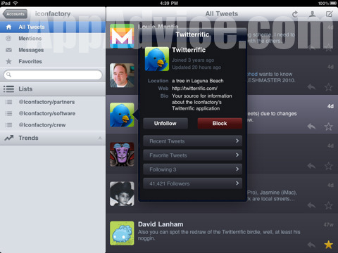 twitterrific3 Twitterrific for iPad Will Be Ready Day 1   Plus Screenshots