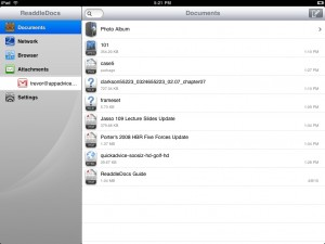 ReaddleDocs for iPad (PDF viewer/attachments saver/file manager) by Readdle screenshot