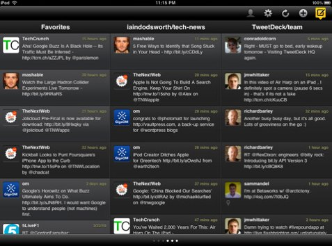 iTunes Tweetdeck For iPad Is Out   Just Makes Sense