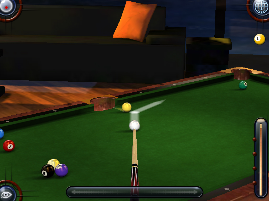 Namco 39 s pool pro online 3 for iphone and ipad available for Namco pools
