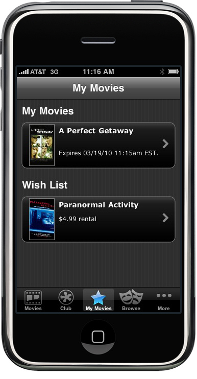 mspot iphone mSpot   iPhone Video Rental
