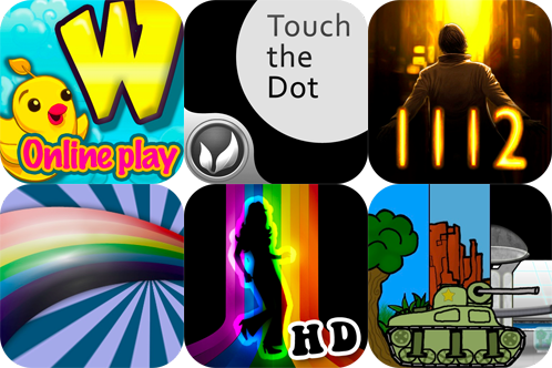 iPhone And iPad Games Gone Free: Word Droppings, 1112 Episode 01, Touch The Dot, And More