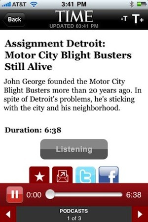 Time Magazine iPhone App Gets Update To 2.0