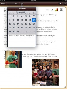 Chronicle for iPad - A personal journal by Steven Romej screenshot