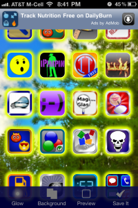 Glowing App Icons by Big Blue Clip, LLC screenshot