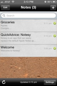 Notesy by David Findlay screenshot