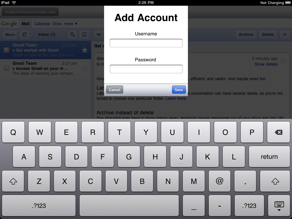 how to get extra gmail account
