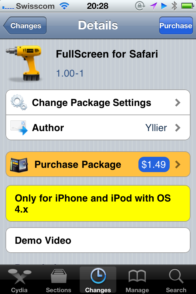 Jailbreak Only: FullScreen For Safari Brings Gestures To Mobile Safari