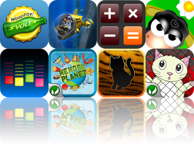 iPhone And iPad Apps Gone Free: WordPop! Volt, Bayo Bongo, Calculator HD, And More