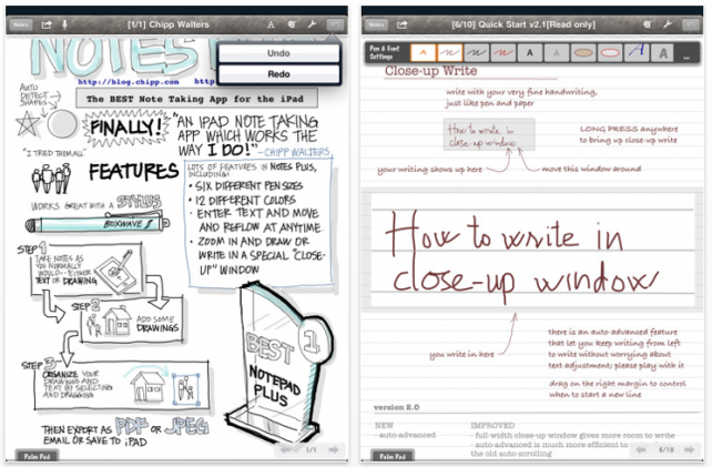 Notes Plus: A Great Handwriting, Note-Taking, Sound-Recording iPad App