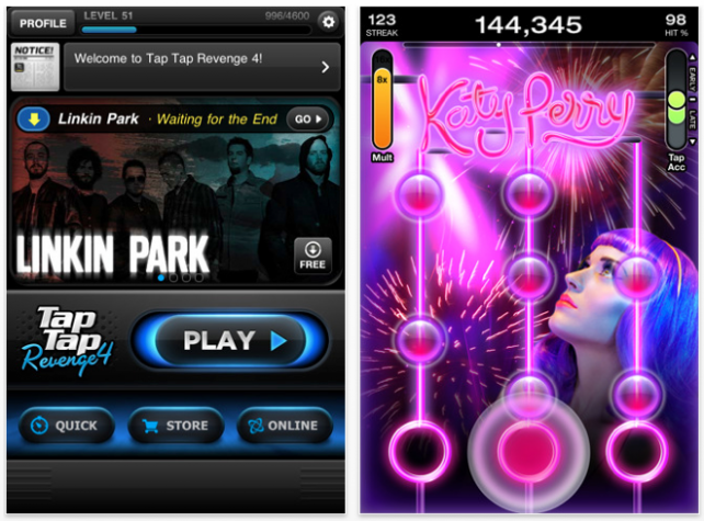 Tap Tap Revenge 4 Available Now: 100 Free Songs Included!