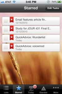 wunderlist Task Manager by 6 Wunderkinder screenshot