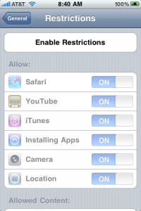 enablerestrictions