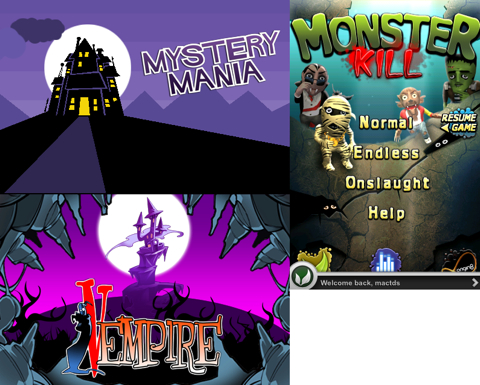 Review of Three More Halloween Games - Just the Verdict! Plus Video