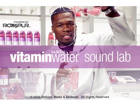 50 cent vitamin water sound lab app