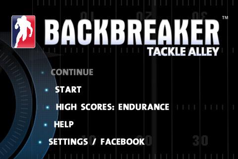 backbreaker football menu