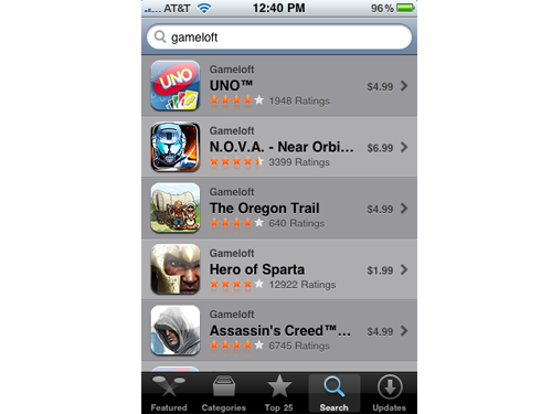 Gameloft Has Sold 10 Million iPhone Games Since The App Store's Launch