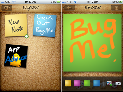 Popular BlackBerry Note-Taking App BugMe! Now Available For iPhone