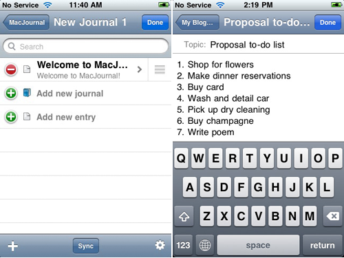 Mariner Software's MacJournal Comes To The iPhone