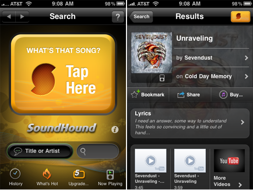Free Version Of SoundHound Now Available For iPhone And iPad