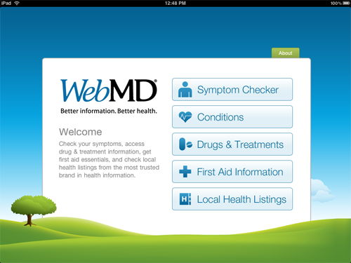 WebMD For iPad Makes Medical Information Discovery A Breeze