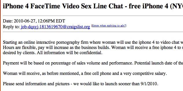 Free facetime sex numbers