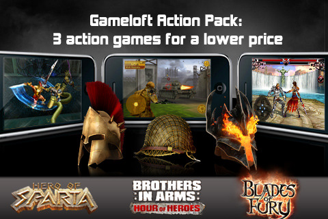 Gameloft Action Pack Gives You 3 Popular Games In 1