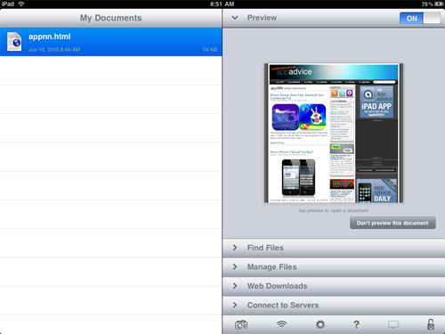 GoodReader For iPad Now Supports Horizontal Page Turning And VGA Output