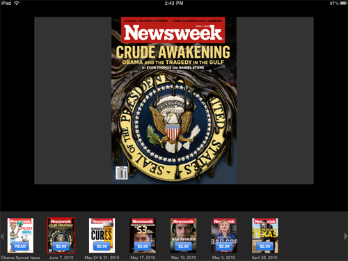 Newsweek For iPad Now Available, Features Digital Issues As In-App Purchases