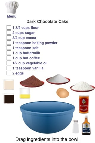 Review cake doodle universal app cake making on for What are the ingredients to make a cake