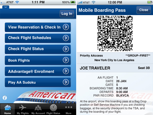 American Airlines New App Allows You To Check In With