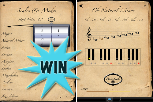 A Chance To Win A Scales And Modes (iPad) Promo Code With A Retweet Or Comment