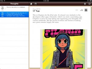 Chapters - Notebooks for Writing by Steven Romej screenshot