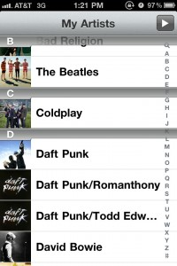 My Artists by Top Drawer Apps screenshot
