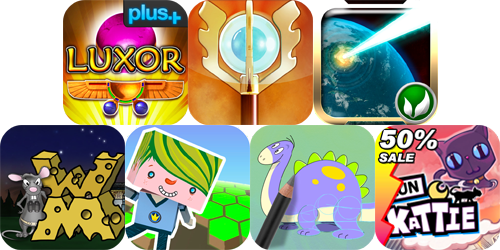 iPhone And iPad Apps Gone Free: Luxor, Monster RPG 2, Sentinel 2 And More