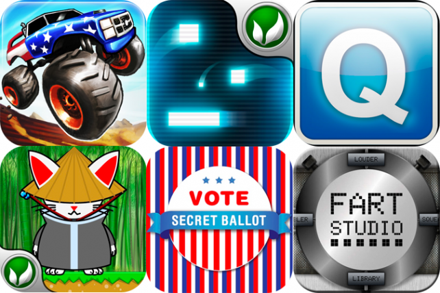 iPhone And iPad Apps Gone Free: Monster Trucks Nitro, MobiQ IM, Juggle And More