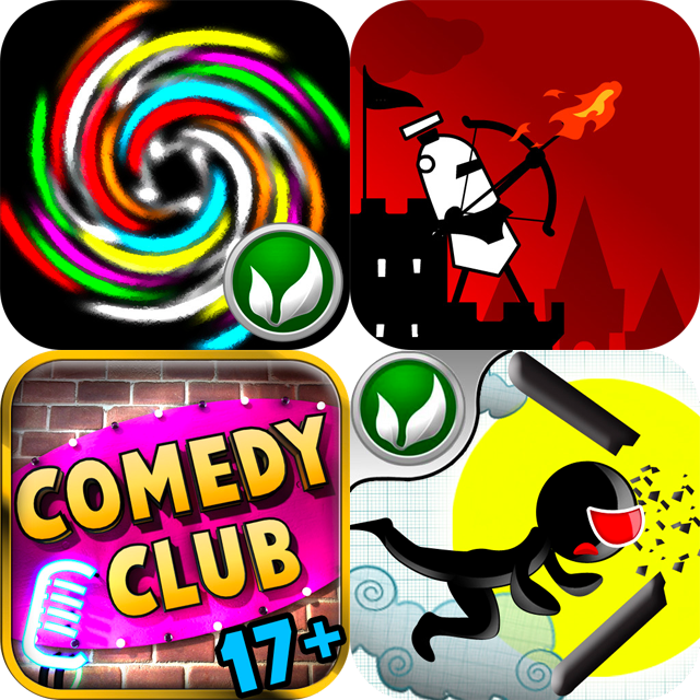 iPhone And iPad Apps Gone Free: Gyrotate, Stick Hero, Bowman Defense And Al's Comedy Club