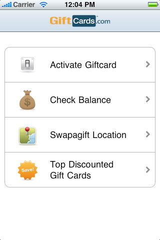 the giftcardscom app also has the ability to activate gift cards and check balances if you receive a gift card for a store thats not in your area - Custom Visa Gift Cards