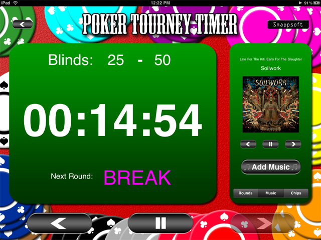 Smappsoft Releases Poker Tourney Timer For iPad, A Home Poker Tournament Management Tool