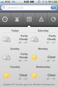The Weather by Clink Apps screenshot